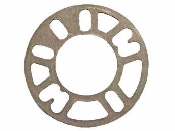 SPACER, Wheel, 4mm or 5/32 inch, cast aluminum