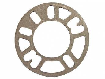 SPACER, Wheel, 5mm or 3/16 inch, cast aluminum
