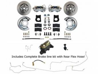 DISC BRAKE CONVERSION, FRONT, BY LEED BRAKES