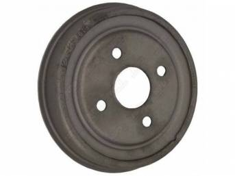 DRUM, Brake, rear, replacement, 9 inch x 1