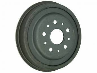 DRUM, Brake, rear, replacement, 10 inch x 1