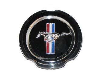 CENTER CAP, WHEEL COVER, RUNNING HORSE