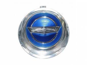 EMBLEM WHEEL COVER CENTER WIRE WHEEL BLUE
