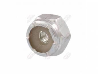 NUT, Nylon Locking, #8-32 Zinc Finish, Grade 2,
