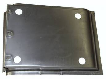 REINFORCEMENT PAN, Floor, lower, RH, Canadian made, below