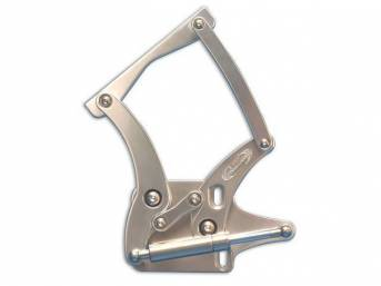 HOOD HINGES, Custom Billet Aluminum, clear anodized finish