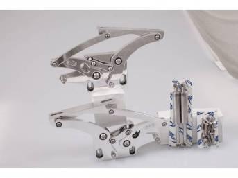 HOOD HINGES, Custom Billet Aluminum, bright polished finish