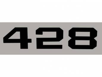 DECAL, *428* HOOD EMBLEM, BLACK, RH OR LH