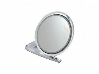 MIRROR, Outside, RH, manual, round, convex mirror, standard