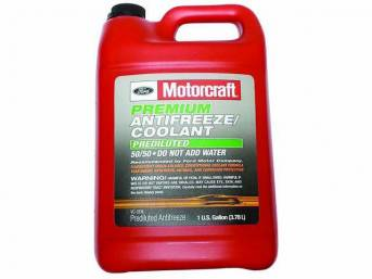 ANTIFREEZE / COOLANT, Motorcraft, green pre-diluted, 1 gallon