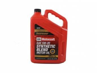 SAE 5w20 Premium Synthetic Blend Motor Oil, Motorcraft,
