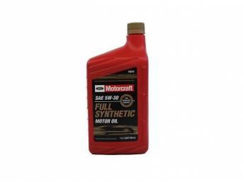 SAE 5w30 Full Synthetic Motor Oil, Motorcraft, 1