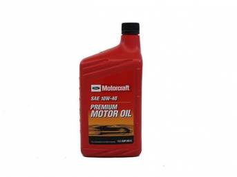 SAE 10w40 Premium Motor Oil, Motorcraft, 1 quart