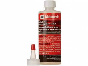 SUPERCHARGER SYNTHETIC FLUID, 4 oz bottle with tapered