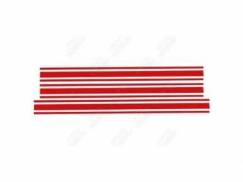 STRIPE KIT, FORD RACING ACCESSORY, RED, SOLD OVER