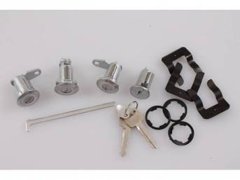 LOCK CYLINDER KIT, DOORS, IGNITION AND TRUNK