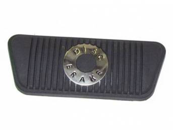 PAD, Brake Pedal, repro, has edge groove for