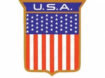 NAMEPLATE, QUARTER PANEL, *USA* SHIELD