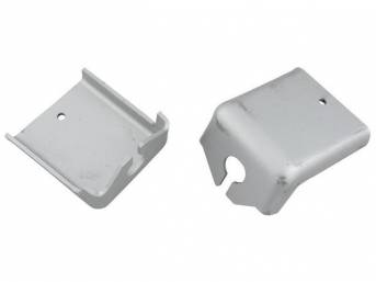 BRACKETS, PARKING BRAKE CABLE, EXACT REPRO, PAIR, TUNNEL