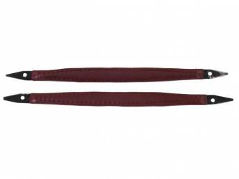 HANDLES, Door Pull, dark red, pair, Corinthian grain