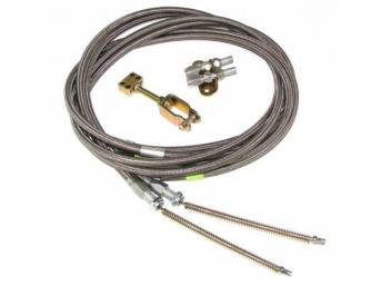 CABLE KIT, PARKING BRAKE, UNIVERSAL MUSTANG REAR, FOR