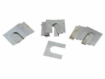 SHIM KIT, FENDER OR SUSPENSION, ZINC, CORRECT STYLE