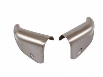 CAP, QUARTER TRIM PANEL, UPPER FRONT, CHROME, PAIR