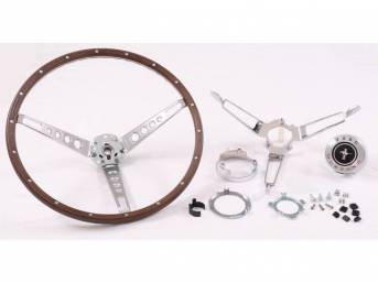 STEERING WHEEL KIT, DELUXE WOODGRAIN