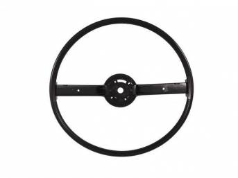 STEERING WHEEL, 2 Spoke, black, repro, D0AZ-3600-K, D2AZ-3600-K