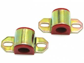 BUSHING AND BRACKET SET, SWAY BAR, POLYURETHANE, RED