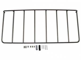 LUGGAGE RACK, REAR DECK, REPRO, STAINLESS STEEL, IMPORTED,