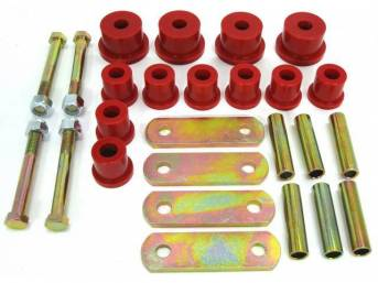 SHACKLE KIT, LEAF SPRING, REAR, POLYURETHANE