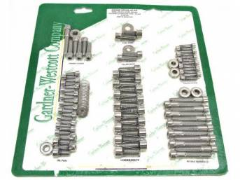 BOLT KIT, ENGINE DRESS UP, Polished stainless steel