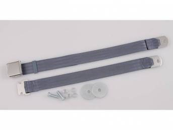 SEAT BELT, Classic Look, 2 Point, light blue,
