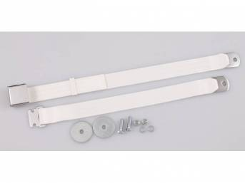 SEAT BELT, Classic Look, 2 Point, white, style