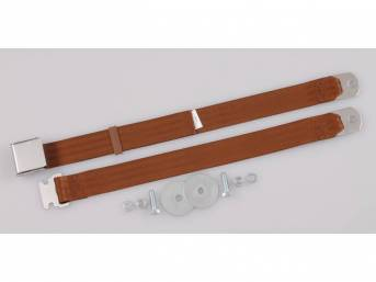 SEAT BELT, Classic Look, 2 Point, saddle, style
