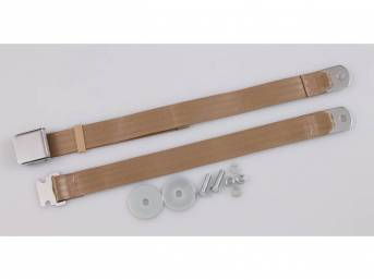SEAT BELT, Classic Look, 2 Point, parchment, style