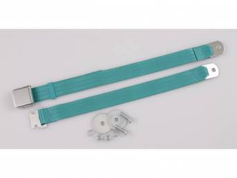 SEAT BELT, Classic Look, 2 Point, turquoise, style