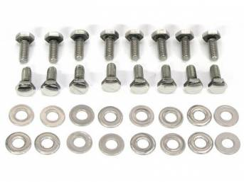 BOLT KIT, STEEL VALVE COVER, Polished stainless steel