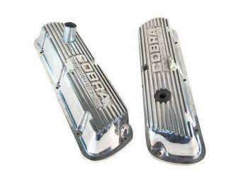 VALVE COVER SET, FINNED ALUMINUM, COBRA