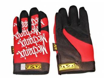 MECHANIX WEAR GLOVES, ORIGINAL, RED, LARGE, IMPROVED FINGER