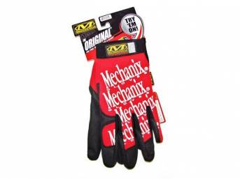 MECHANIX WEAR GLOVES, ORIGINAL, RED, MEDIUM, IMPROVED FINGER
