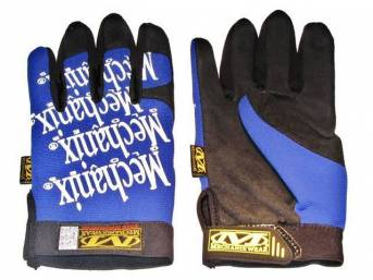 MECHANIX WEAR GLOVES, ORIGINAL, BLUE, LARGE, IMPROVED FINGER