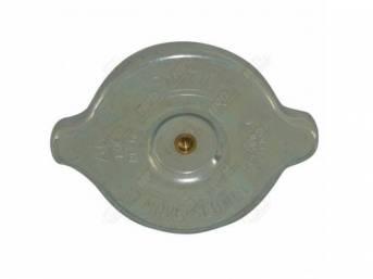 RADIATOR CAP, AC RC-6, 13#, zinc, concours, used
