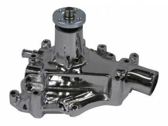 WATER PUMP, NEW, REPLACEMENT, CAST IRON, CHROME FINISH
