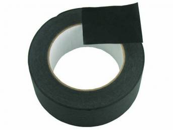 WRAP TAPE, BLACK MASKING, 2 INCH WIDE