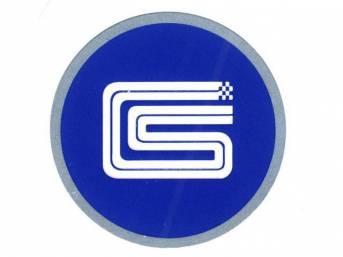 EMBLEM, Key Fob, CS logo, Aluminum disc with