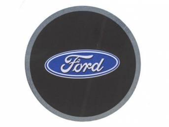 EMBLEM, Key Fob, Ford oval, Aluminum disc with