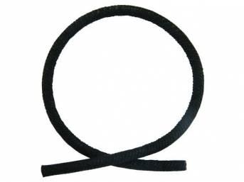 WIRE COVER, BLACK WOVEN CLOTH, OIL SENDER WIRE