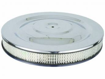 AIR CLEANER ASSY, CHROME TOP, BLUE BASE